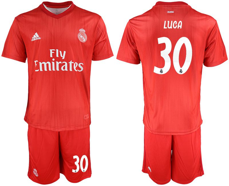 Men 2018-2019 club Real Madrid Second away 30 red soccer jersey