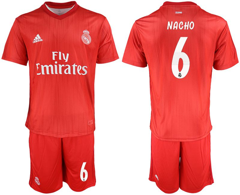 Men 2018-2019 club Real Madrid Second away 6 red soccer jersey