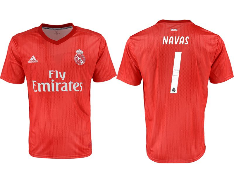 Men 2018-2019 club Real Madrid Second away aaa version 1 red soccer jersey