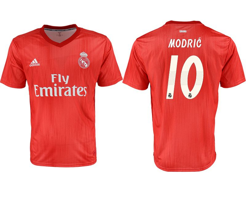 Men 2018-2019 club Real Madrid Second away aaa version 10 red soccer jersey