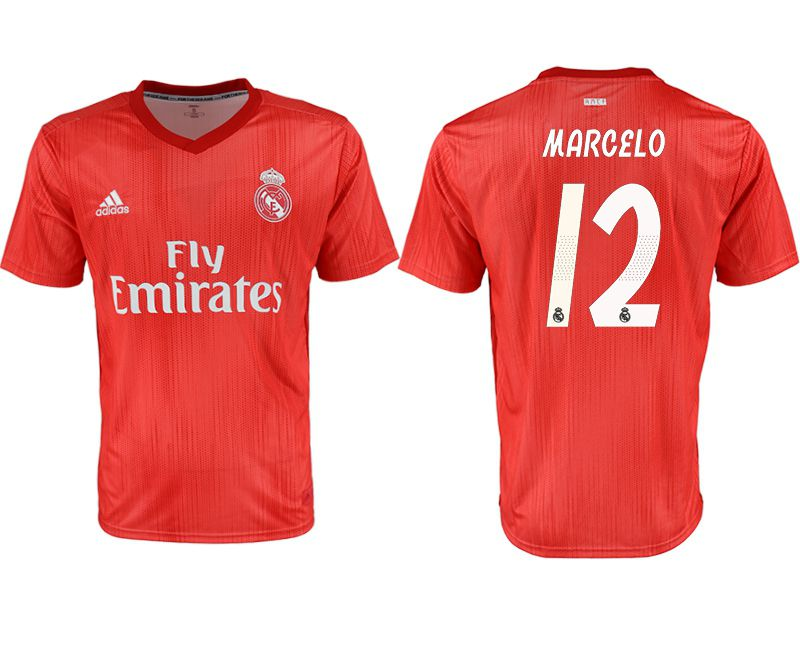 Men 2018-2019 club Real Madrid Second away aaa version 12 red soccer jersey
