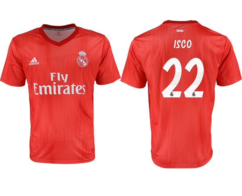 Men 2018-2019 club Real Madrid Second away aaa version 22 red soccer jersey