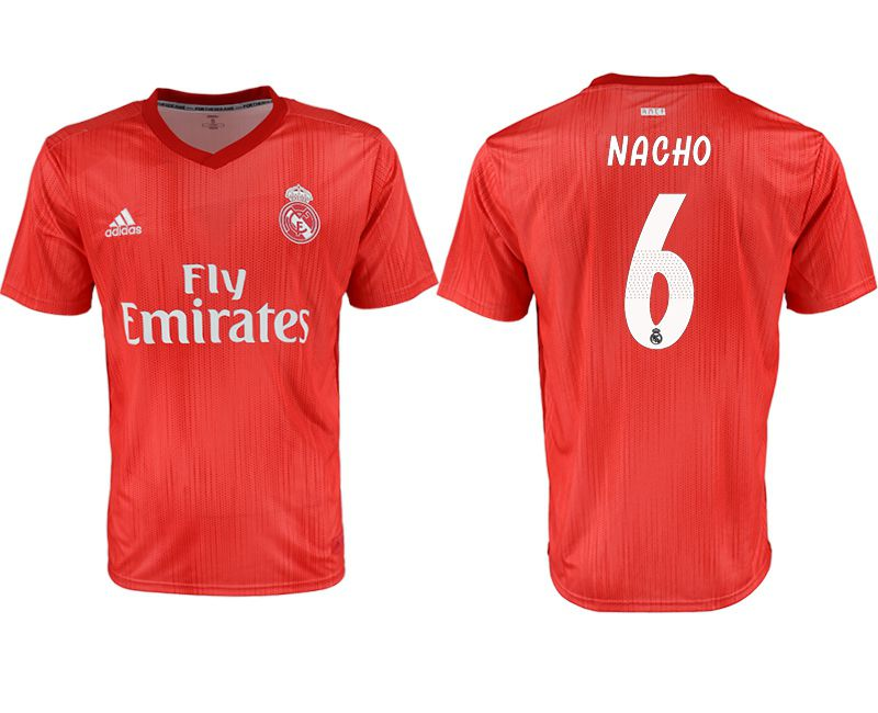 Men 2018-2019 club Real Madrid Second away aaa version 6 red soccer jersey