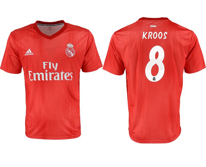 Men 2018-2019 club Real Madrid Second away aaa version 8 red soccer jersey