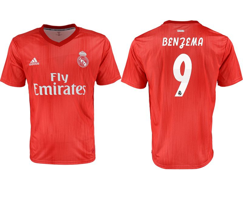 Men 2018-2019 club Real Madrid Second away aaa version 9 red soccer jersey