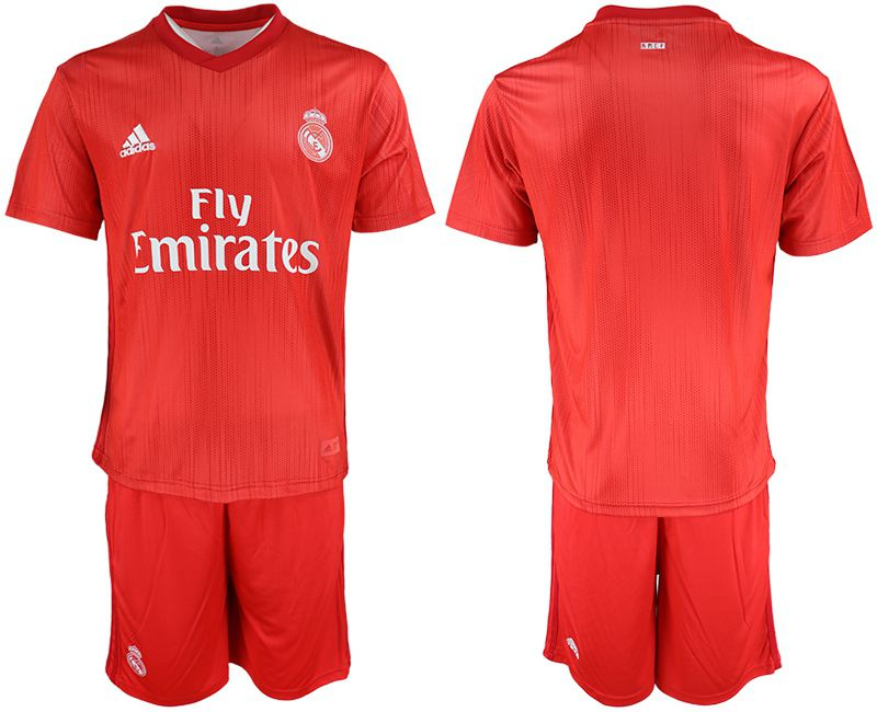 Men 2018-2019 club Real Madrid Second away blank red soccer jersey