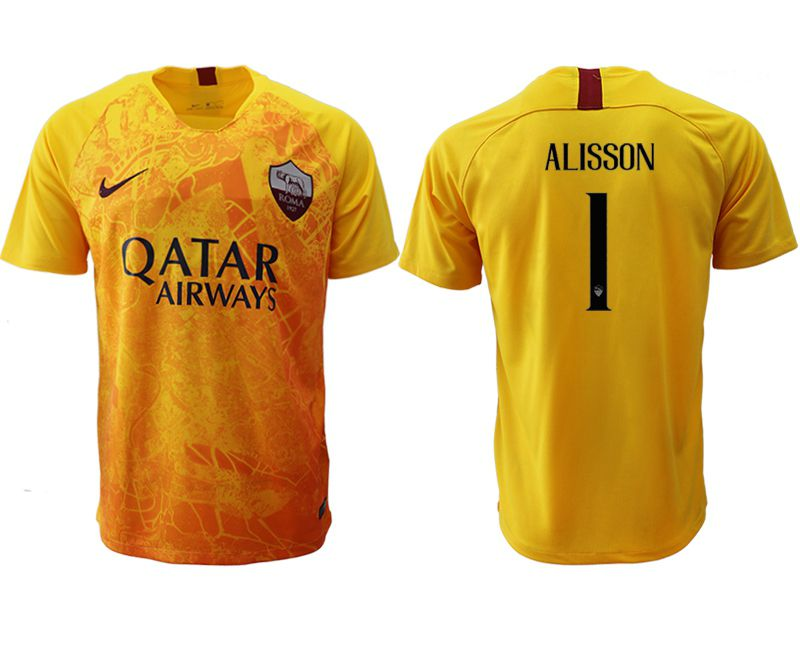 Men 2018-2019 club Rome Second away aaa version 1 yellow Soccer Jerseys