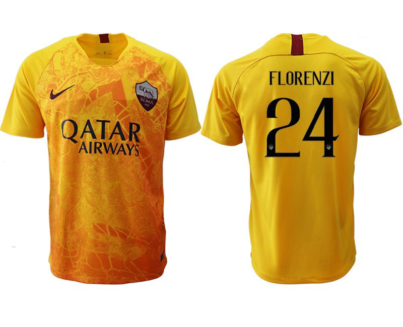 Men 2018-2019 club Rome Second away aaa version 24 yellow Soccer Jerseys