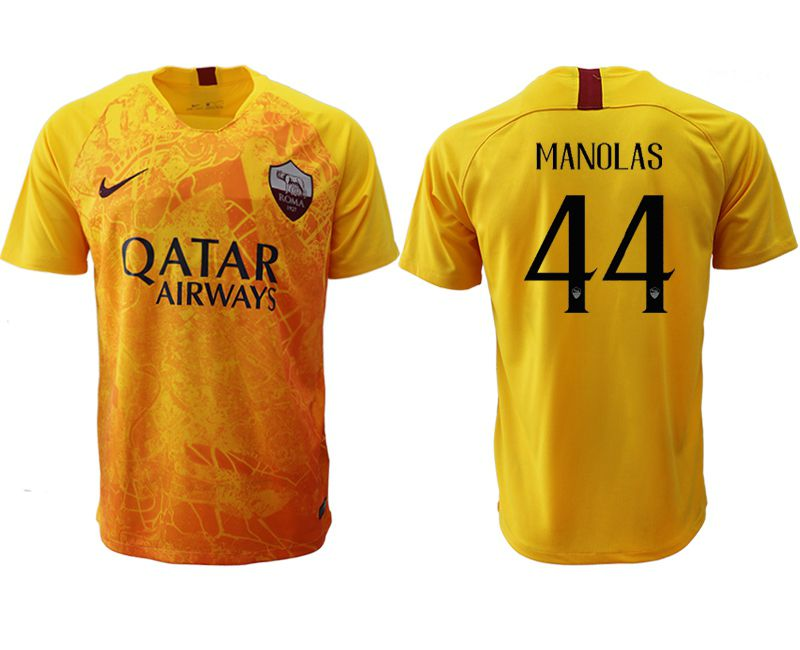 Men 2018-2019 club Rome Second away aaa version 44 yellow Soccer Jerseys