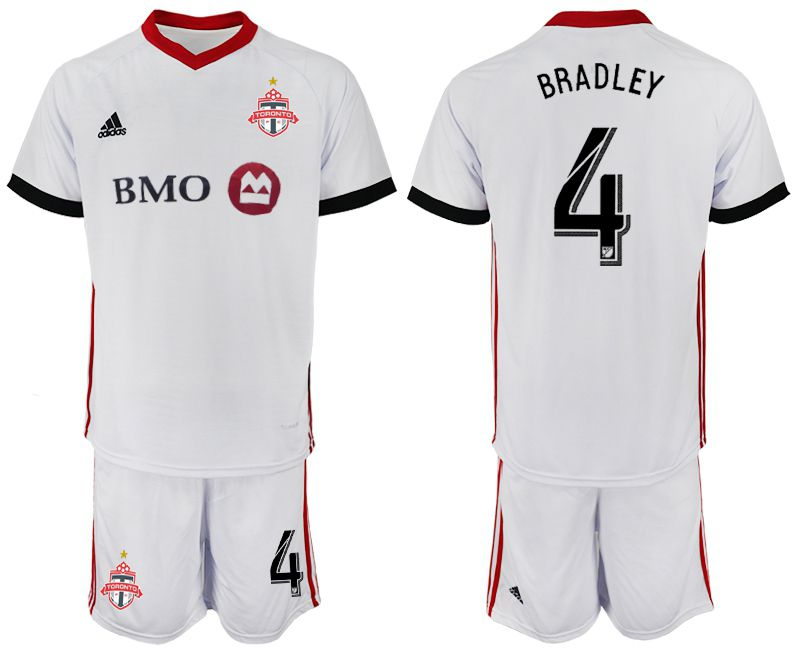 Men 2018-2019 club Toronto FC away 4 white Soccer Jerseys