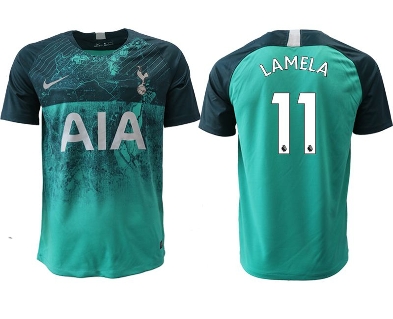 Men 2018-2019 club Tottenham Second away aaa version 11 green Soccer Jerseys