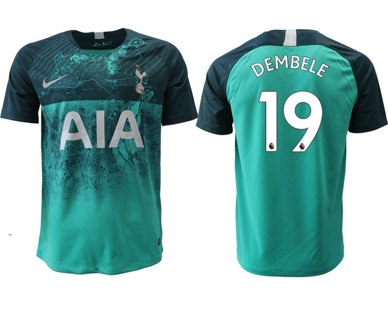 Men 2018-2019 club Tottenham Second away aaa version 19 green Soccer Jerseys