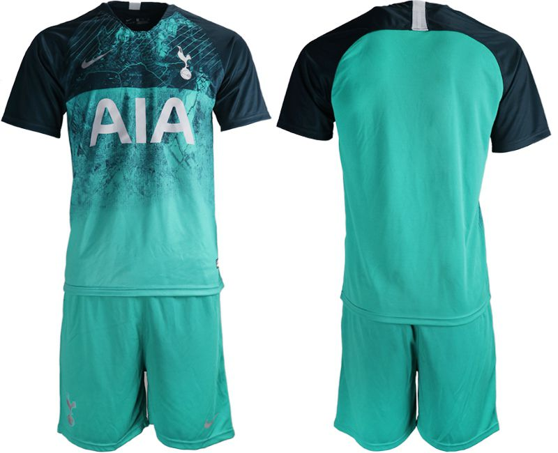 Men 2018-2019 club Tottenham Second away blank green Soccer Jerseys
