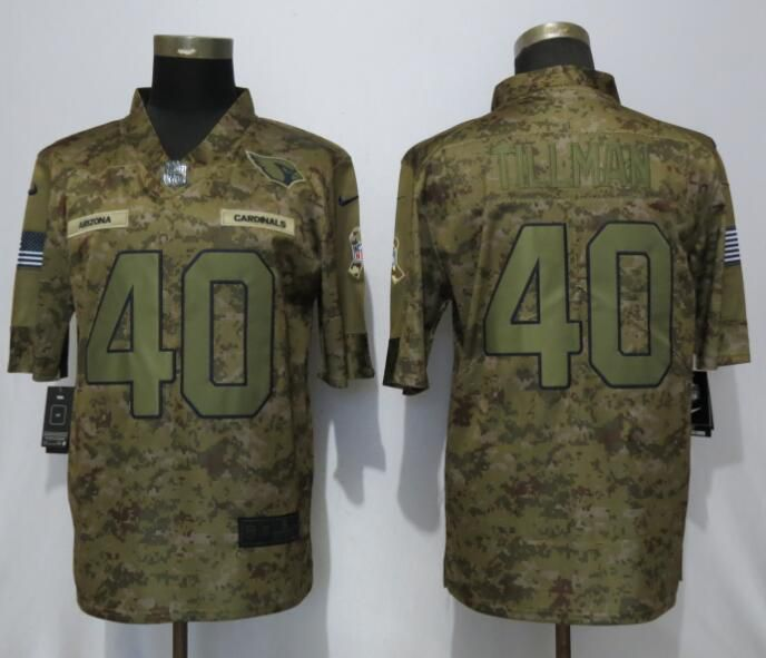 Men Arizona Cardinals 40 Tillman Nike Camo Salute to Service Limited NFL Jerseys