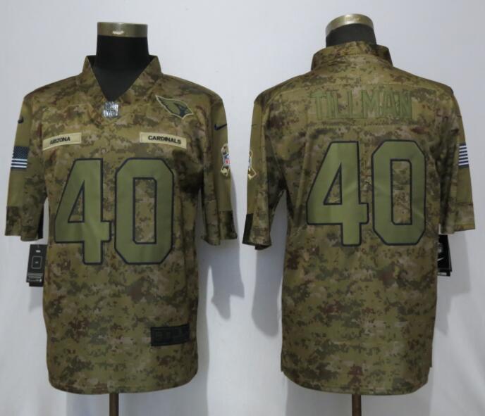 Men Arizona Cardinals 40 Tillman Nike Camo Salute to Service Limited NFL  Jerseys d1dedde14