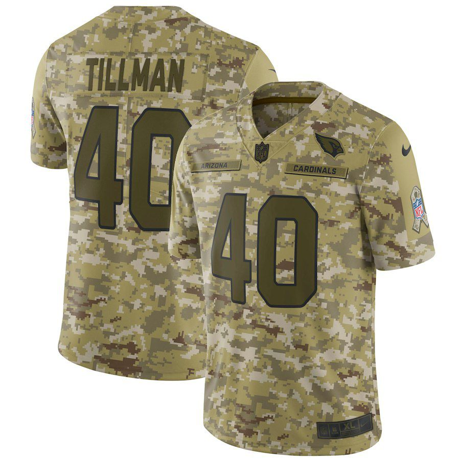 Men Arizona Cardinals 40 Tillman Nike Camo Salute to Service Retired Player Limited NFL Jerseys