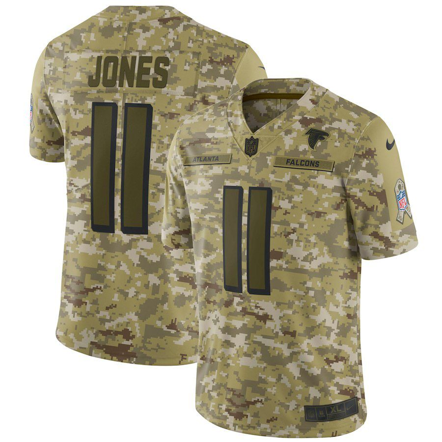Men Atlanta Falcons 11 Jones Nike Camo Salute to Service Retired Player Limited NFL Jerseys