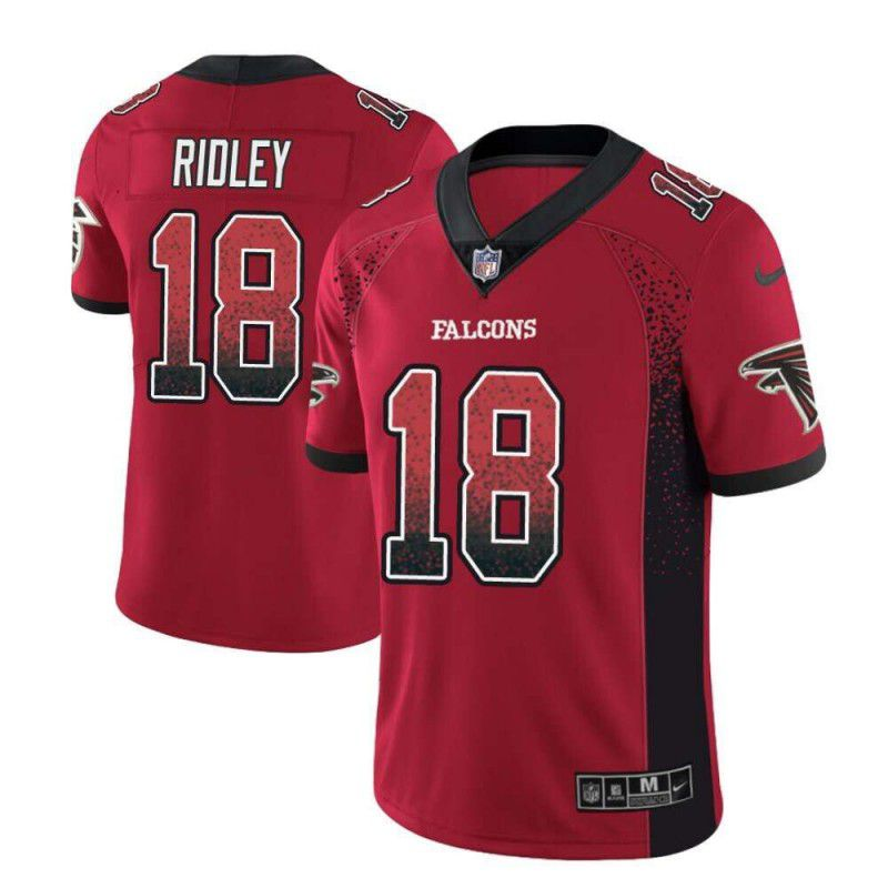 Men Atlanta Falcons 18 Ridley Red Drift Fashion Color Rush Limited NFL Jerseys