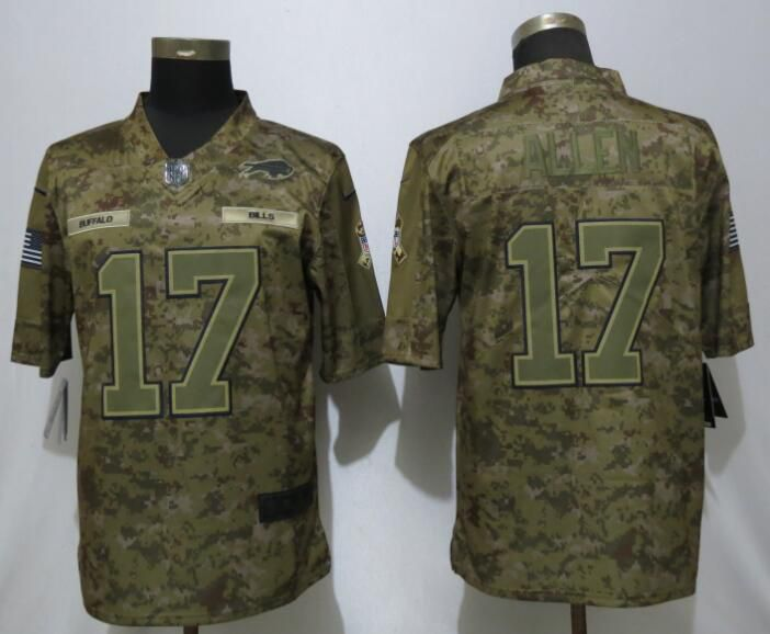 Men Buffalo Bills 17 Allen Nike Camo Salute to Service Limited NFL Jerseys