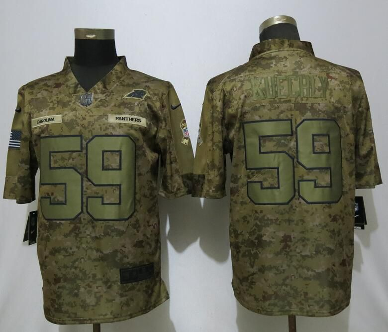 Men Carolina Panthers 59 Kuechly Nike Camo Salute to Service Limited NFL Jerseys