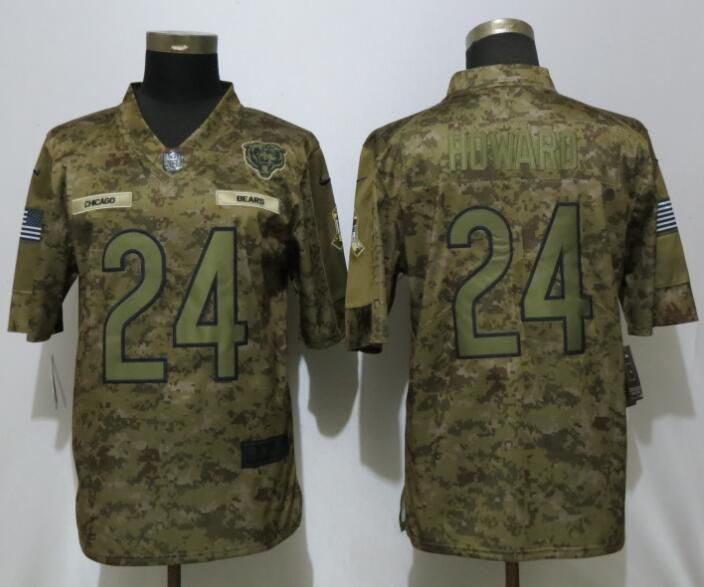 Men Chicago Bears 24 Howard Nike Camo Salute to Service Limited NFL Jerseys