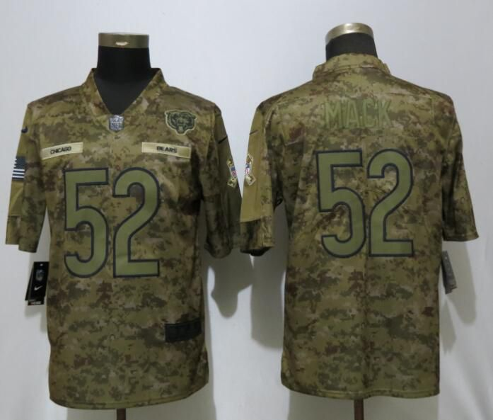 Men Chicago Bears 52 Mack Nike Camo Salute to Service Limited NFL Jerseys