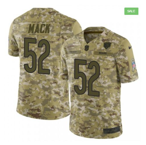 Men Chicago Bears 52 Mack Nike Camo Salute to Service Retired Player Limited NFL Jerseys
