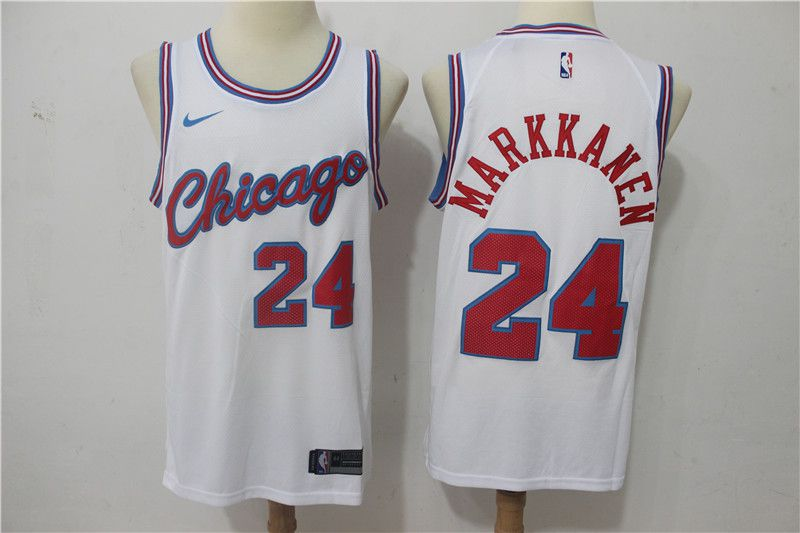 Men Chicago Bulls 24 Markkanen City Edition Game Nike NBA Jerseys