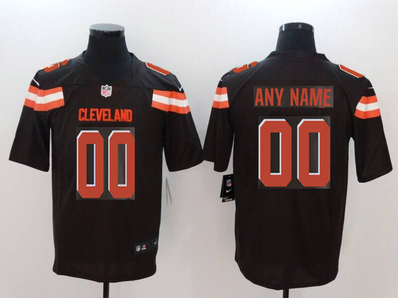 Men Cleveland Browns Custom brown Nike Vapor Untouchable Limited NFL Jerseys