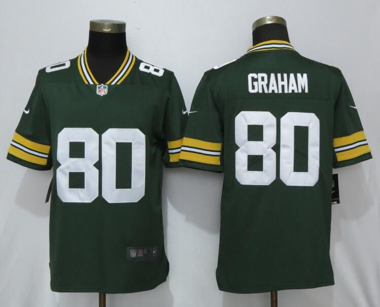 Men Green Bay Packers 80 Graham Green Nike Vapor Untouchable Limited Playe NFL Jerseys
