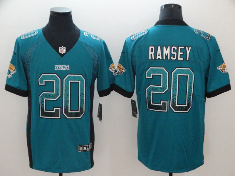 Men Jacksonville Jaguars 20 Ramsey Green Nike Drift Fashion Color Rush Limited NFL Jerseys