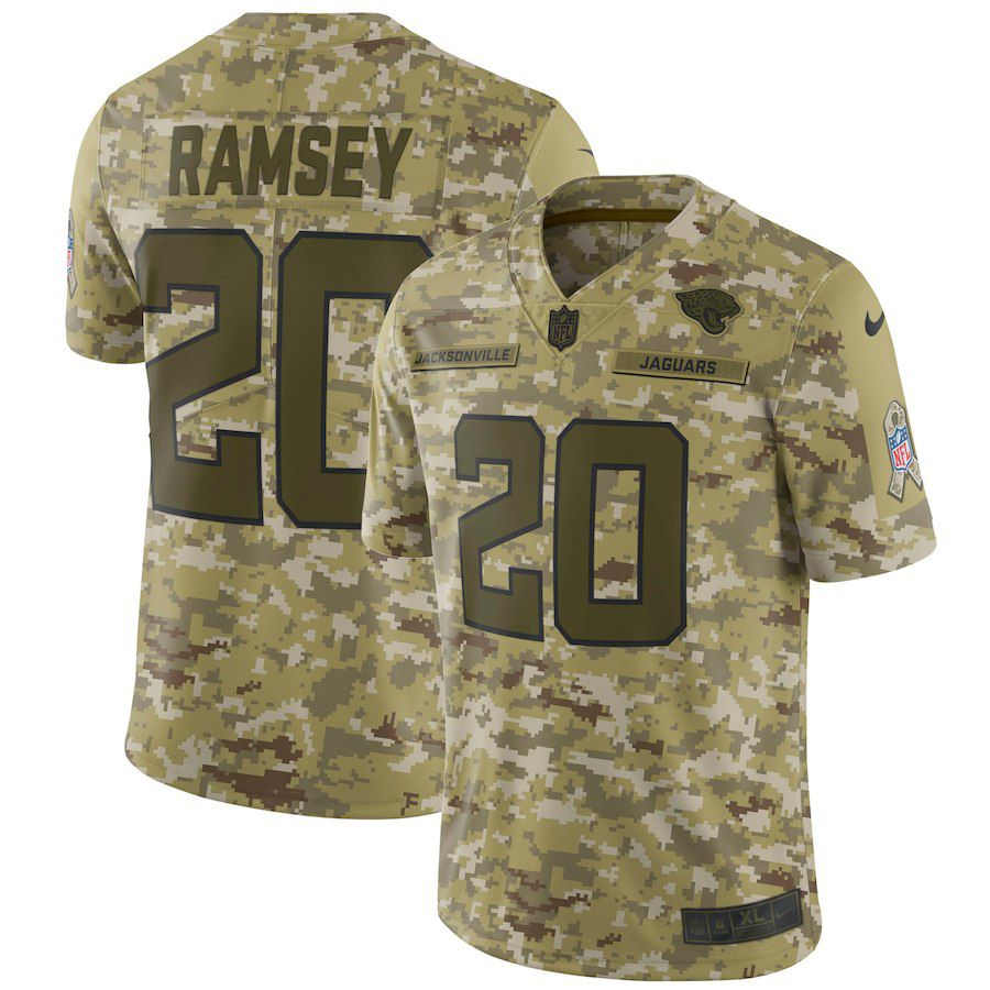 Men Jacksonville Jaguars 20 Ramsey Nike Camo Salute to Service Retired Player Limited NFL Jerseys
