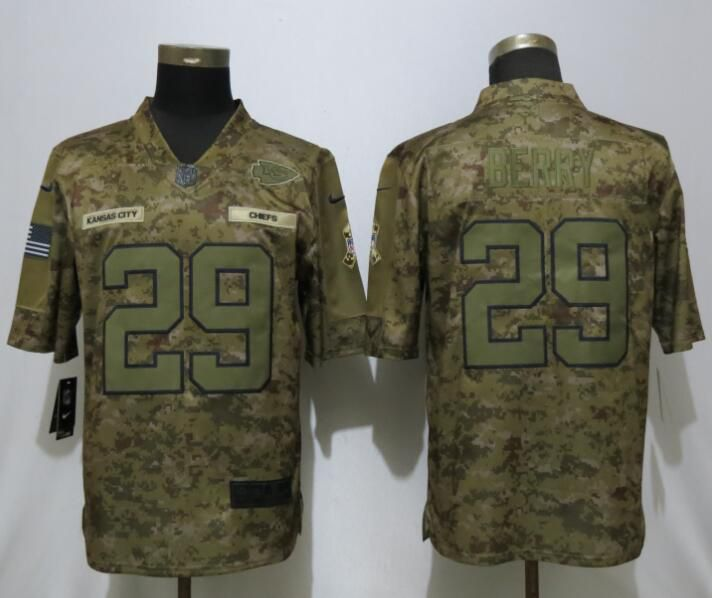 Men Kansas City Chiefs 29 Berry Nike Camo Salute to Service Limited NFL Jerseys