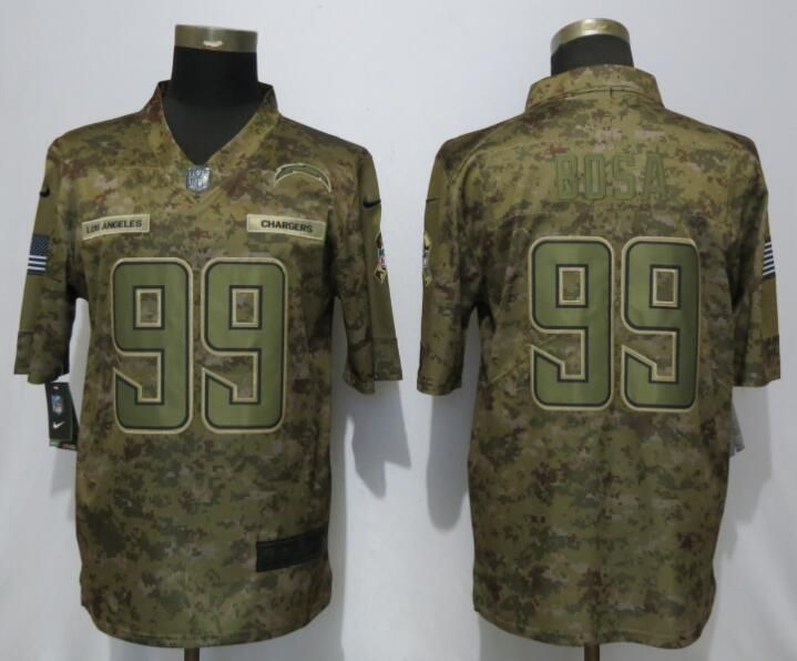Men Los Angeles Chargers 99 Bosa Nike Camo Salute to Service Limited NFL Jerseys