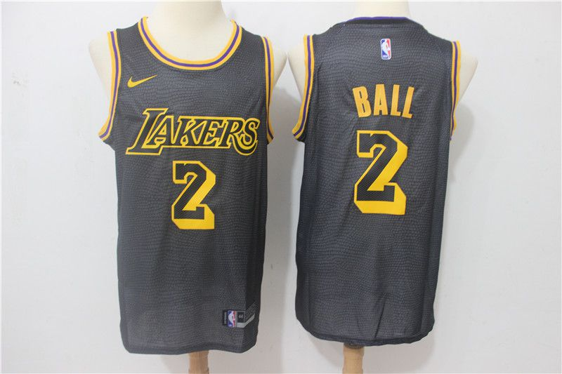Men Los Angeles Lakers 2 Ball City Edition Game Nike NBA Jerseys