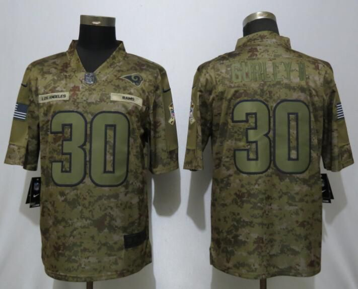 Men Los Angeles Rams 30 Gurley ii Nike Camo Salute to Service Limited NFL Jerseys