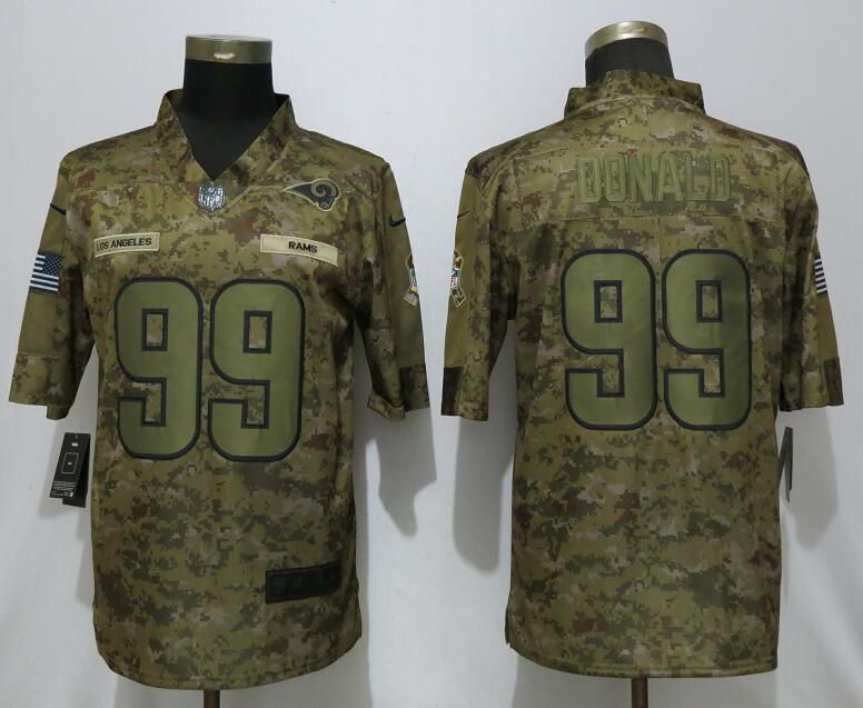 Men Los Angeles Rams 99 Donald Nike Camo Salute to Service Limited NFL Jerseys