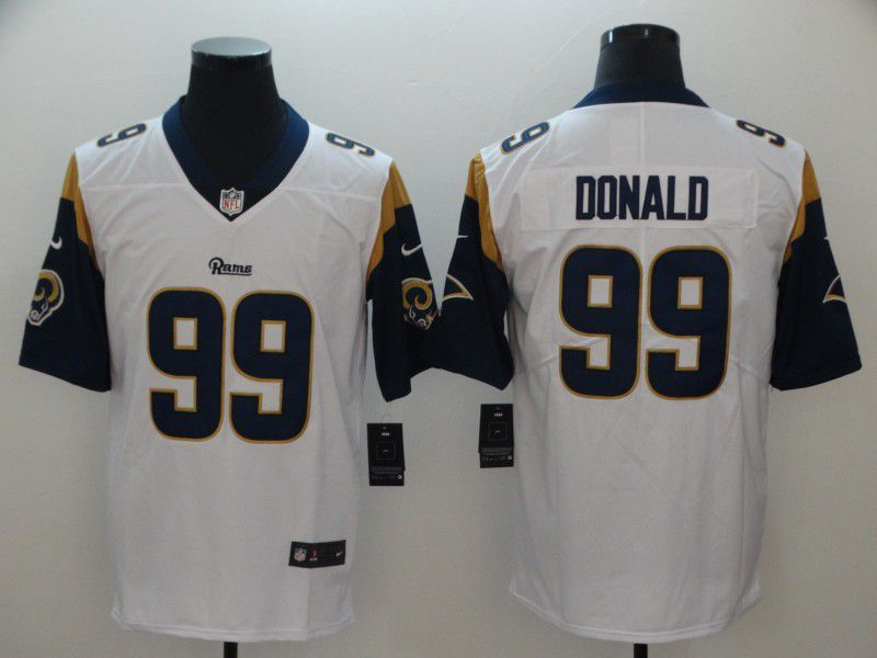 Men Los Angeles Rams 99 Donald White Nike Vapor Untouchable Limited Playe NFL Jerseys