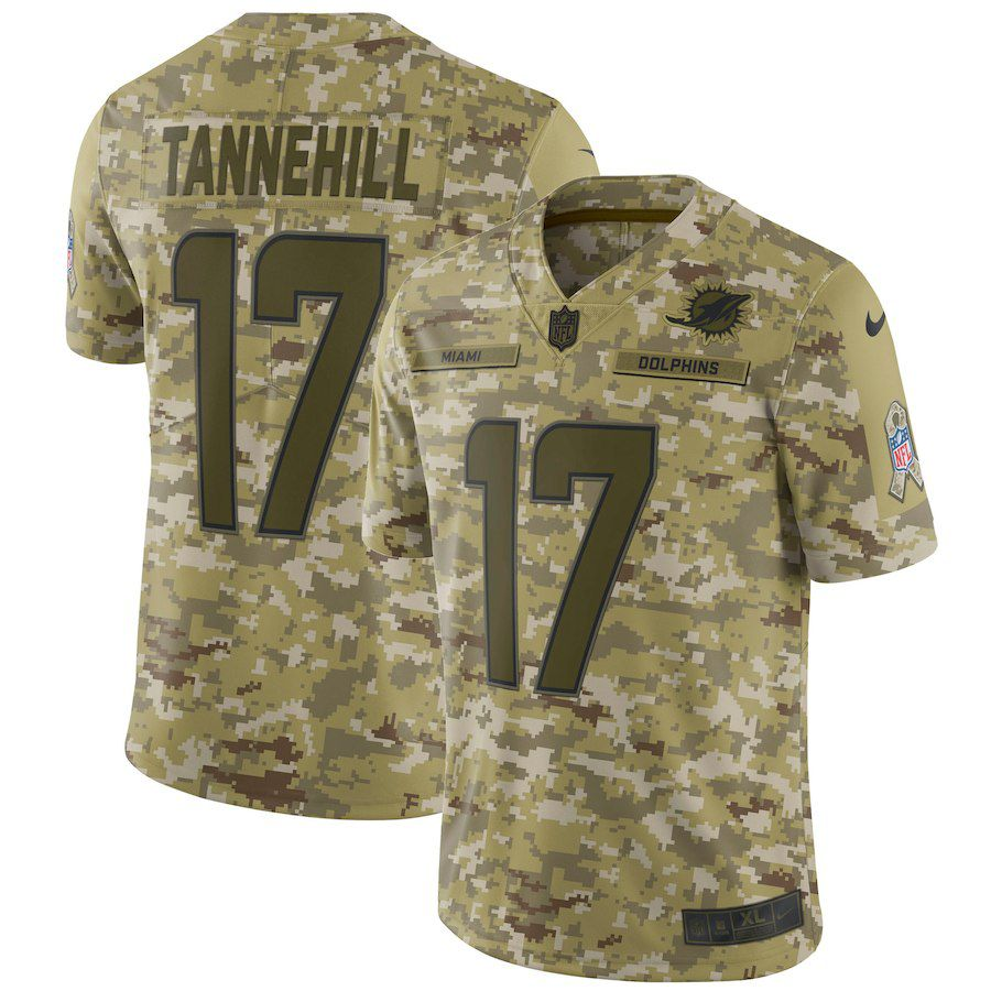 Men Miami Dolphins 17 Tannehill Nike Camo Salute to Service Retired Player Limited NFL Jerseys