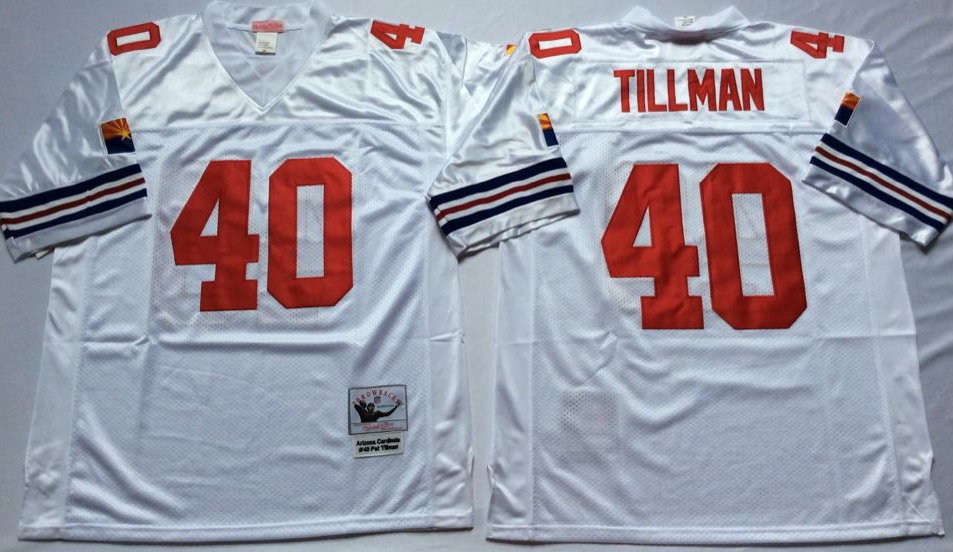 Men NFL Arizona Cardinals 40 Tillmann white Mitchell Ness jerseys