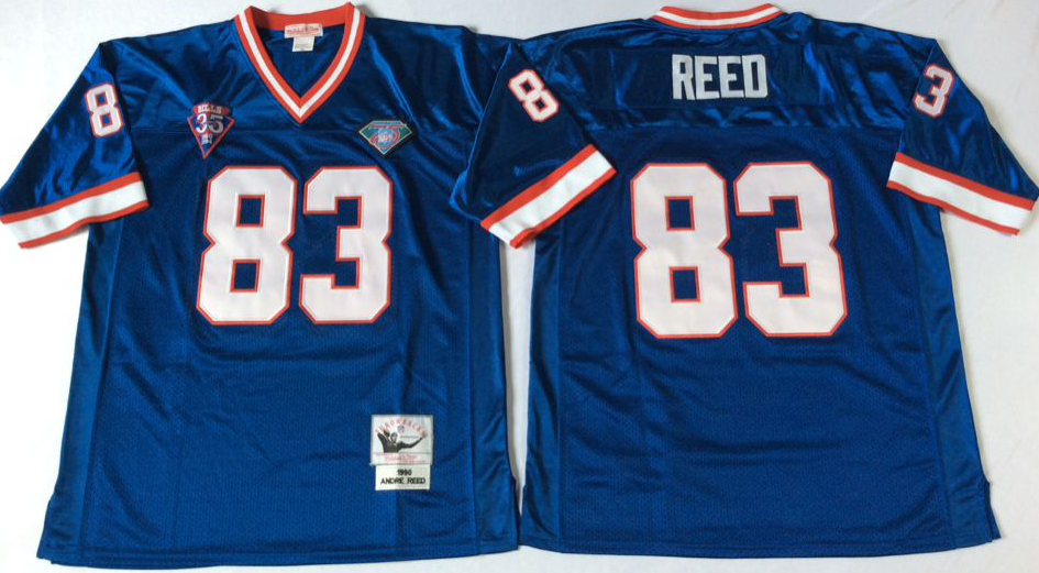 Men NFL Buffalo Bills 83 Reed blue Mitchell Ness jerseys