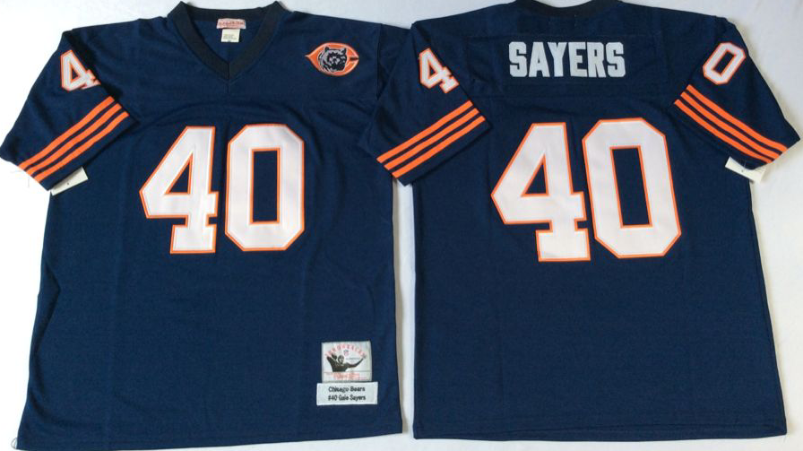 Men NFL Chicago Bears 40 Sayers blue Mitchell Ness jerseys