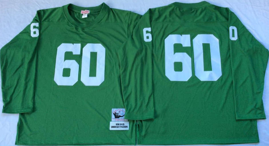 Men NFL Green Bay Packers 60 no name green Mitchell Ness jerseys