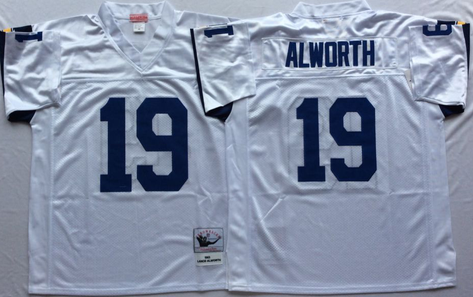 Men NFL Los Angeles Chargers 19 Alworth white Mitchell Ness jerseys
