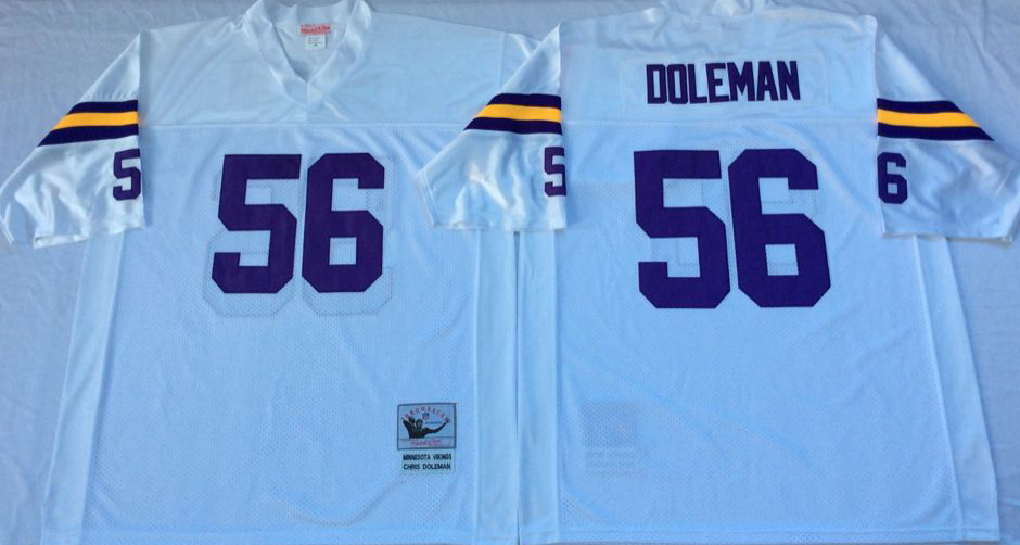 Men NFL Minnesota Vikings 56 Doleman white Mitchell Ness jerseys