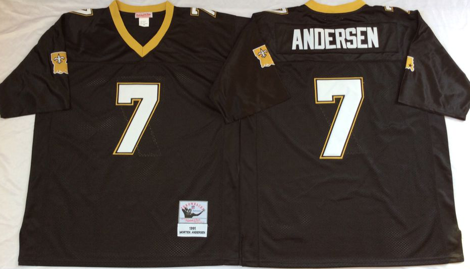 Men NFL New Orleans Saints 7 Andersen black Mitchell Ness jerseys