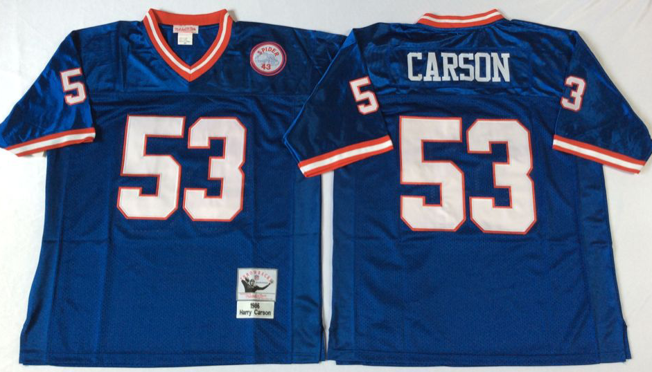 Men NFL New York Giants 53 Carson blue Mitchell Ness jerseys