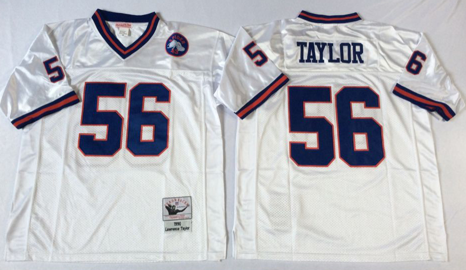 Men NFL New York Giants 56 Taylor white Mitchell Ness jerseys