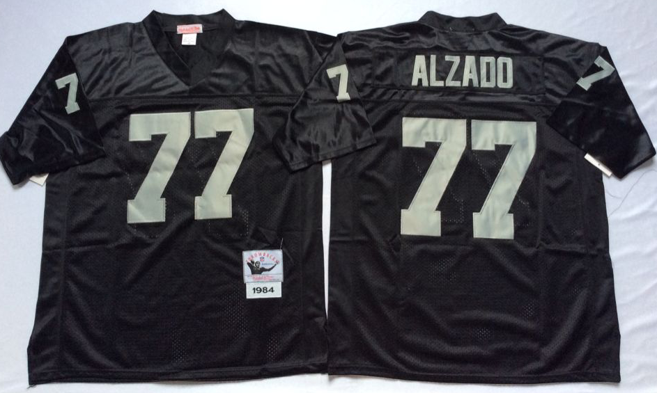 Men NFL Oakland Raiders 77 Alzado black Mitchell Ness jerseys