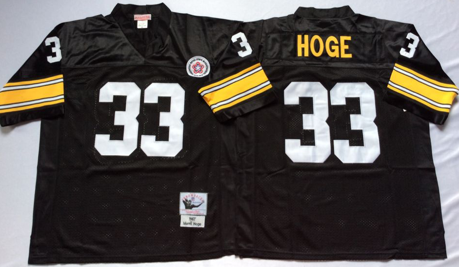 Men NFL Pittsburgh Steelers 33 Hoge black Mitchell Ness jerseys